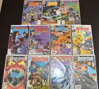 (11) Book BATMAN DETECTIVE COMICS LOT #593 599 600 601 609 615 623 624 639 640+