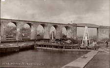 Northwich. Canal Locks & Viaduct by Hodgson & Co., Photographers, Northwich.