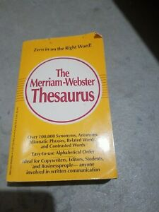 The Merriam Webster Thesaurus Paperback Book 1989
