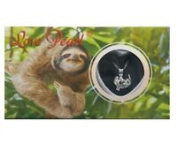 "Sloth Love Wish Pearl Necklace Kit Set Culture Pearl 16"" Necklace"