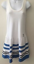 Juicy Couture Sz S Small White Terry Cloth Racerback Tank Dress Swim Coverup