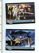 Star Wars Clone Wars P1 P2 Promo Card Topps Cartoon Network