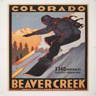 Beaver Creek Colorado Snowboarder Poster Size 41.5 L x 30.5 W Black Frame