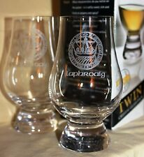 LAPHROAIG ISLAY CREST TWIN PACK GLENCAIRN SCOTCH WHISKY TASTING GLASSES