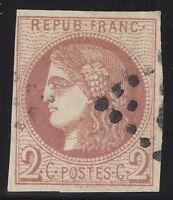 n°40B Cérès Bordeaux 2c rouge timbre classique oblitéré  TB  1870