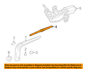 Chevrolet GM OEM 13-15 Spark Wiper-Rear Window Blade 96688389