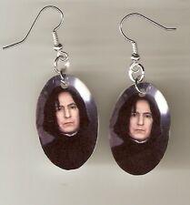 Harry Potter Severus Snape Earrings Plastic Charms Handmade Alan Rickman Wizard