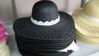 cappello nero elegante cerimonia taglia unica  paglia hat cocktail donna mare