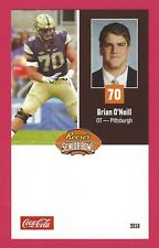BRIAN O'NEILL 2018 REESE'S SENIOR BOWL PITTSBURGH PANTHERS PITT ROOKIE CARD