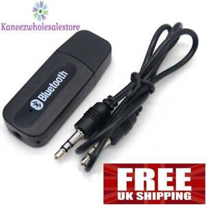 3.5mm to USB Bluetooth Receiver AUX Audio Stereo Music Adaptor System Car Laptop