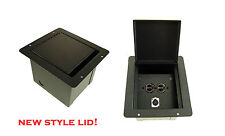 ProCraft Pro Audio Recessed Pocket Floor Box.1 Ac Duplex 1 Channel Any Config