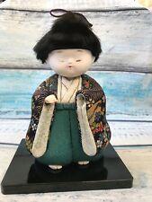 """RARE Vintage KIMEKOMI Japanese Boy Doll Gofun Kimono 8"""""""