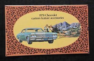 """1970 Chevrolet Impala Caprice """" Personnalisé Présente Accessoire """" Brochure"""