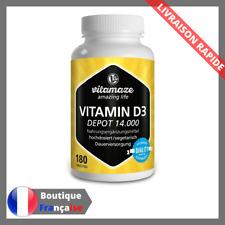Vitamine D3 Dose Forte 180 Comprimes Vegetariens Complement Alimentaire Vegan D