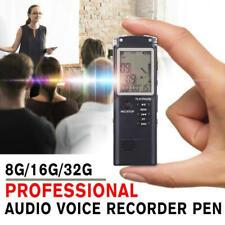 32GB Digital Diktiergerät Tragbar Aufnahmegerät MP3 Audio Sound Voice Recorder