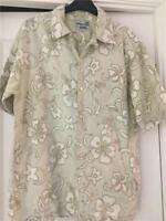 Billabong Mens S Cream Beige Floral effect short sleeve shirt vintage S  VGC Cl4