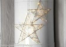 LED stella di Avvento METALLO Ø 34 NATALE CON 15 FILO STERN Timer 100157