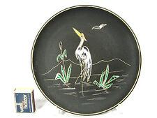 "50 's design Ruscha keramik wall plate muro plato ""heron"" 717 1/2 09550"