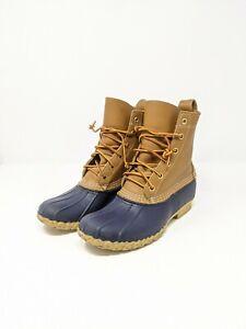LL Bean Womens Classic Tan Brown Duck Bean Boots Made In the USA Sz 7