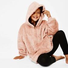 Brentfords Teddy Fleece Hoodie Blanket Oversized Giant Wearable Adults Kids UK