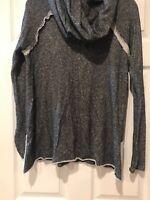 Karlie Turtle Neck Cowl Neck Black Grat Sweater Medium