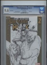 Ultimate Wolverine vs Hulk #2 CGC 9.6 Limited Edition Sketch Cover