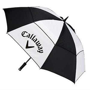 Callaway Golf Clean 60 Umbrella, Black/White, Medium