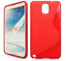HOUSSE ETUI COQUE SILICONE GEL ROUGE SAMSUNG GALAXY NOTE 3