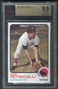 1973 O-Pee-Chee #365 Rico Petrocelli BVG 9.5 Perfectly Centered Red Sox