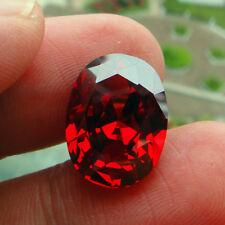 9.10CT 10x14mm Pomegranate Red Sapphire Oval Cut AAAAA VVS Loose Gemstone