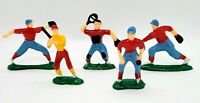 Vintage CMV Hard Plastic Baseball Toy Figure Lot of 5