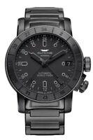 Glycine GL0169 Men's Airman 46 GMT Automatic 46mm Black PVD Watch