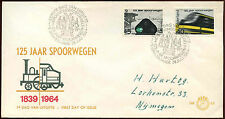 Netherlands 1964 Railways FDC First Day Cover #C27161