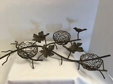 New ListingMetal Bird's Nest and Twigs Branch Centerpiece Candle Holder Detailed Farmhouse