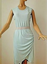 NEW BCBG MAXAZRIA SOFT BLUE AMAZING LAYERED IN FRONT STRETCHED SEXY DRESS M-S