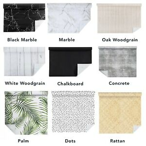 Vinyl Self Adhesive Wallpaper Roll Kitchen Contact Paper Film Marble Chalkboard