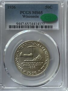 Wisconsin Half PCGS MS 65 CAC White , High Quality