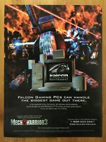 MechWarrior 3 & Falcon Northwest Gaming PCs Vintage Print Ad/Poster Official Art