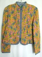 Anthropologie Multicolored Floral Quilted Lined Waverly Jacket Size XS EUC