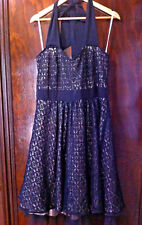CITY CHIC LITTLE BLACK LACE HALTER NECK 60'S DRESS SIZE: S  BNWT RRP:$159.95