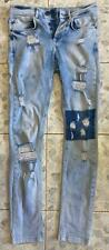 MJ Mania Jeans Mens Narrow Distressed Jeans Size 25