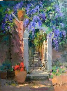 "Original Fine Art ""Sorrento Villa"" by Raimondo Roberti COA"