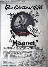 Small 1926 'MAGNET' Pedestal Electric Fire AD - Original Art Deco Print ADVERT