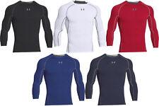 Under Armour HeatGear Compression Men's Long Sleeve Shirt-1257471-FREE SHIPPING