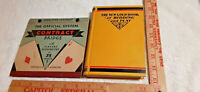 CONTRACT BRIDGE OFFICIAL SCORING SYSTEM OF 1931-2 +  RARE Culbertson GOLD BOOK