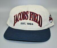 Cleveland Indians Jacobs Field Twins Enterprise Vintage 90s Snapback Cap Hat