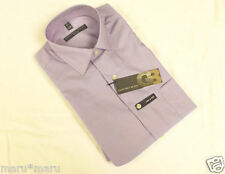 New Mens Geoffrey Beene FITTED Dress Shirt 15 32/33 Helio Lavender Purple small