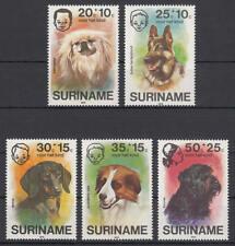 Surinam (Suriname) - Michel-Nr. 738-742 postfrisch/** (Hunde / Dogs)