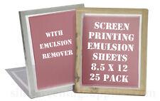 Emulsion Sheets - 25 Pk & Remover 8.5x12