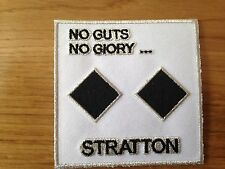 "SOUVENIR SNOWBOARDING SNOWMOBILE SKI STRATTON SKIING ""NO GUTS NO GLORY"" PATCH"